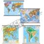 [ภูมิภาค] โลก 7 ทวีป ชนิดแขวนจัมโบ้ (100x130 ซม.)